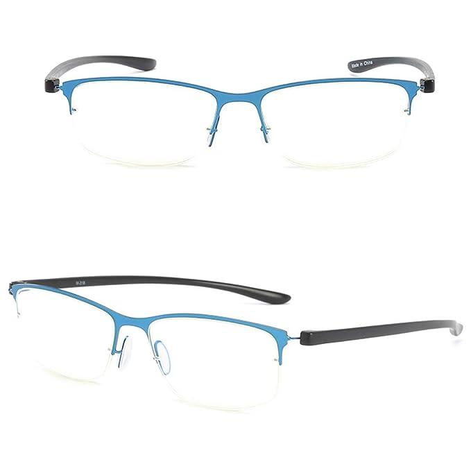 b464789e71 VEVESMUNDO Gafas Lectura Hombre Mujer Anti Luz Azul Metal Flexibles Optica  Presbicia Modernas Vista Leer Graduadas 1.0 1.5 2.0 2.5 3.0 Negro Verde  Marrón ...