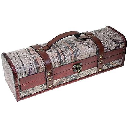 Compra CHRISTIAN GAR Caja de Madera Decorada para Botella de Vino - Caja para Regalo/Decoración (35 x 10 x 10 cm) 2050 en Amazon.es