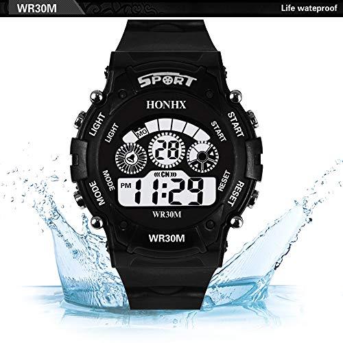 Rcool Relojes suizos relojes de lujo Relojes de pulsera Relojes para mujer Relojes para hombre Relojes deportivos,Digital LED analógico de cuarzo Fecha de ...