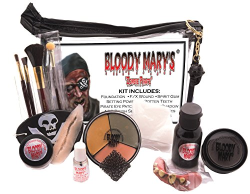 Zombie Costums (Bloody Mary Zombie Pirate Professional Undead Makeup Kit)