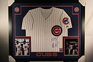 Kris Bryant Anthony Rizzo Dual Autographed Signed CUSTOM FRAMED Chicago Cubs Authentic Jersey MLB Hologram