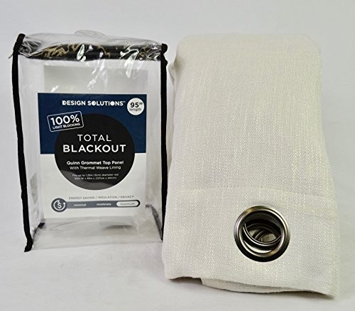 SOLUTION Quinn 95-Inch Grommet Top 100% Blackout Window Curt