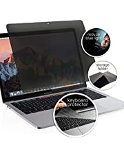 Homy Privacy Screen Protector for MacBook Air Retina 13 inch 2018-2021, Pro 13 2016-2021. Bonus: Keyboard Cover. Easy On-Off Filter A1932 A2179 A1706 A1989 A2159 A2251 A2289 A2238 Touch Bar, A1708.