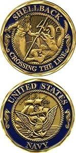 U.S NAVY SHELLBACK Challenge Coin-Eagle Crest 2446