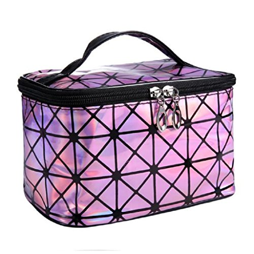 Learn More About Creazy® Women Makeup Diamond Cosmetic Bag (Pink)