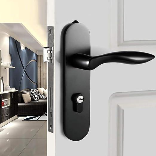 Hogar y Dormitorio del Hotel Bloqueo de la Puerta Mute Durable aleación de Aluminio Mecánico Cerradura de la Puerta corredera Hardware Manija Conjuntos,A4: Amazon.es: Hogar