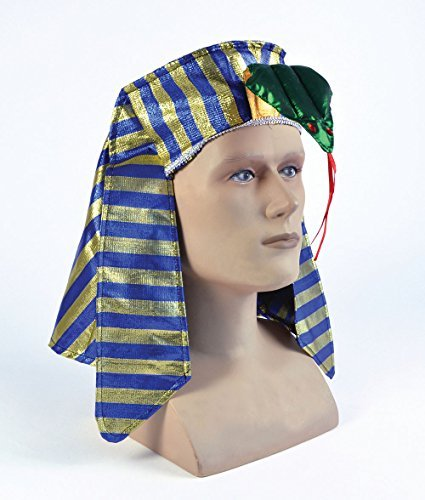 Pharoah Headpiece Childs Hat Accessory for Egyptian King Fancy Dress Hat by Partypackage Ltd (Pharoah Hat)