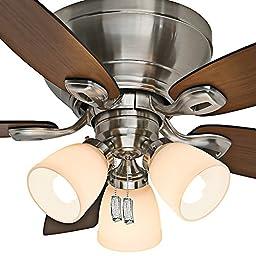 Casablanca Fan Company 53187 Durant 44-Inch Brushed Nickel Ceiling Fan with Five Walnut/Burnt Walnut Blades and Light Kit
