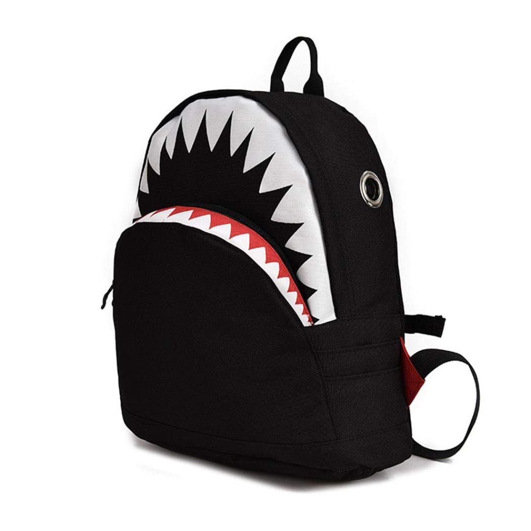 Clearance Sale Kids Boy Girl Cartoon Shark Preschool Backpack School Bookbags Shoulder Bag (L, Black) by Vicbovo (Image #2)