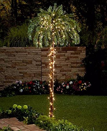 Indoor Outdoor Lighted Palm Tree in US - 7