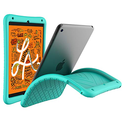 Bear Motion Silicon Case for iPad Mini 5 2019 - Anti Slip Shockproof Light Weight Kids Friendly Protective Case for (iPad Mini 5/4, Green)