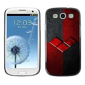 [Neutron-Star] Snap-on Series Teléfono Carcasa Funda Case Caso para Samsung Galaxy S3 [Logo Gris Gris Marca]