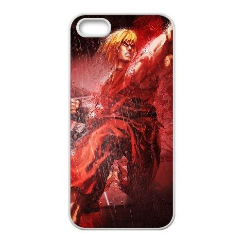 Street Fighter X Tekken Ken Character Fighter Rain 22203 coque iPhone 4 4s cellulaire cas coque de téléphone cas blanche couverture de téléphone portable EEECBCAAN04265