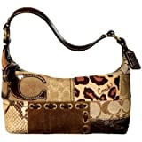 Coach Gallery Patchwork Top Handle Pouch Purse 40914