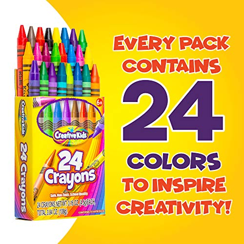 Creative Kids Bulk Classroom Crayons – 36 Packs of 24 Bright, Vibrant Wax Coloring Crayons for Preschool, Kindergarten, Elementary School & Art Class Teachers – ASTM Certified Non Toxic by Creative Kids (Image #3)