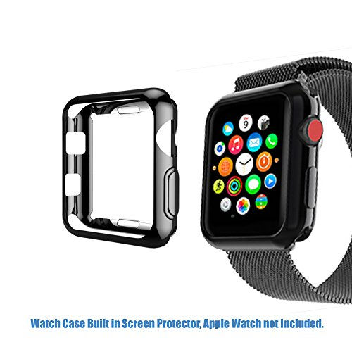 Sincetop Anti-Scratch Screen Protector Compatible with Apple Watch 38mm Series 3, 2, 1 - Soft Flexible TPU All-Around Clear Cover Protective Apple Watch Case