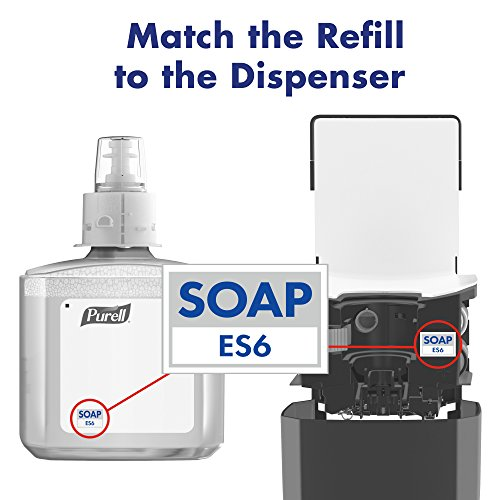 PURELL ES6 Healthcare HEALTHY SOAP High Performance Foam Refill, 1200 mL Soap Refill for PURELL ES6 Touch-Free Dispenser (Pack of 2) - 6485-02
