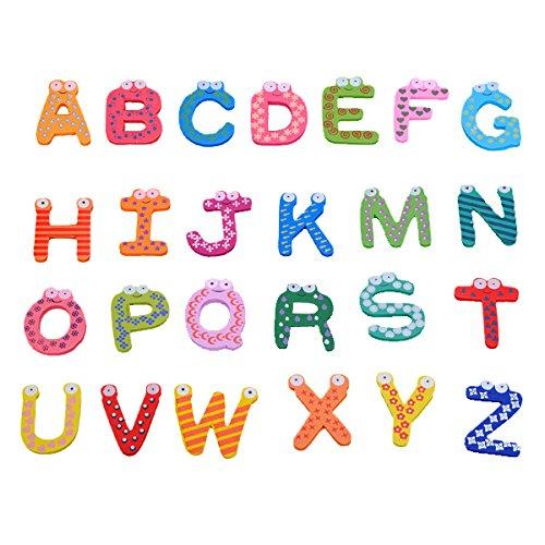 Imanes de nevera de madera con letras de la A a la Z de BOBOJW ...