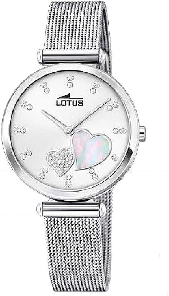 Lotus Reloj Analógico para Mujer de Cuarzo con Correa en Acero Inoxidable 18615/1