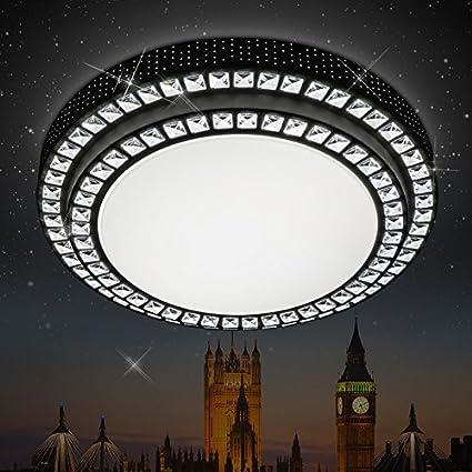 Lampara de cristal circular vestibulo de doble LED de luz de ...