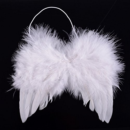 Angel Costume Toddler (ESHOO Baby Toddler Feather Angel Wings, Newborn Photo Prop Costume)