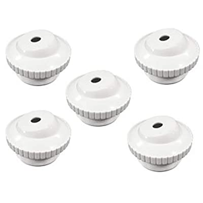 "Pool and Spa Eyeball Jet 1.5"" Threaded to 1/2"" Open 5 in a Package White Adjustable : Swimming Pool Maintenance Kits : Garden & Outdoor"