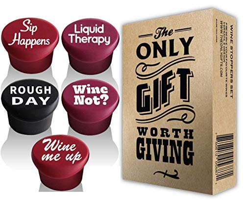 5 Wine Stoppers Gift