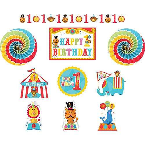 Costumes Ideas For Circus Theme (Fisher Price 1st Birthday Circus Room Decorating Kit (10pc))