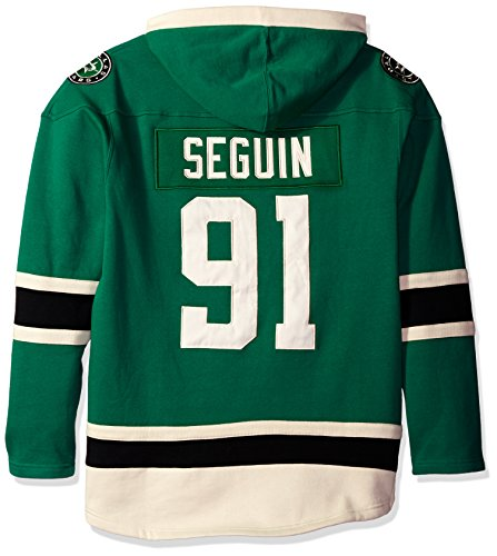 NHL Dallas Stars Tyler Seguin Men's Player Lacer Name & Number Hoodie, XX-Large, Dark Kelly