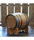 5-liter American Oak Barrel | Handcrafted using American White Oak | Age your own Whiskey, Beer, Wine, Bourbon, Tequila, Hot Sauce & More by Longhorn Barrels