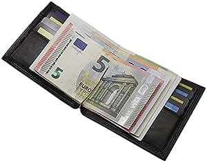 Tarjetero Billetera Con Clip Fabricado Alemania, color negro