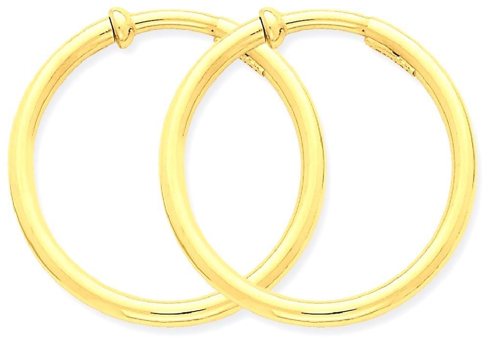 ICE CARATS 14k Yellow Gold Non Pierced Clip On Hoops Hoop Earrings Ear Set Fine Jewelry Gift Set For Women Heart