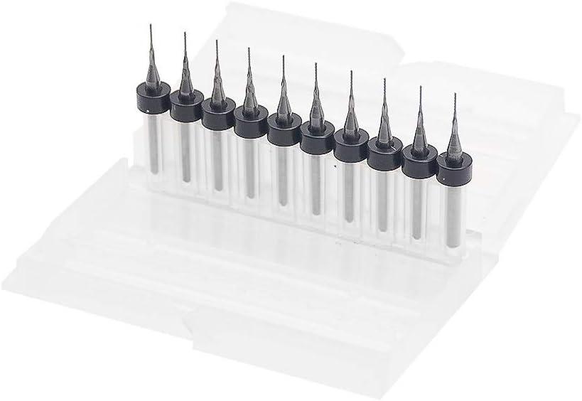 10 st/ücke PCB Fr/äser 1,0 1,5 2,0mm Fischschwanz Fr/äser Mais Fr/äser Hartmetall Mini Schaftfr/äser Gravur CNC Gr/ö/ße : 0.5mm WNJ-Tool