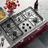 ge 36 gas cooktop - GE Profile : JGP963SEKSS 36 Gas Cooktop - Stainless Steel