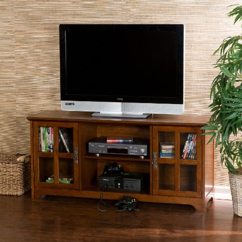 50'' Mission Style TV Media Stand Console , Walnut Finish by FurnitureMaxx (Image #2)