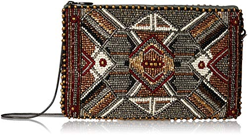 Mary Frances Symmetry Beaded Metallic Crossbody Phone Bag, Multi