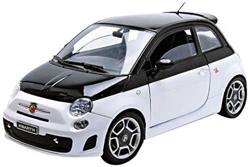 Motormax 1:18 Fiat 500 Abarth Die cast Model Car, May Vary