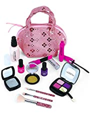 Pretend to Make Up Children's Make-Up Toys Play Children's Make-Up Bags, 18pc House Princess Make-up Toys 3 4 5-Year-Old Girls are Suitable for Role Playing Games and Birthday Gifts (Not Real Makeup)