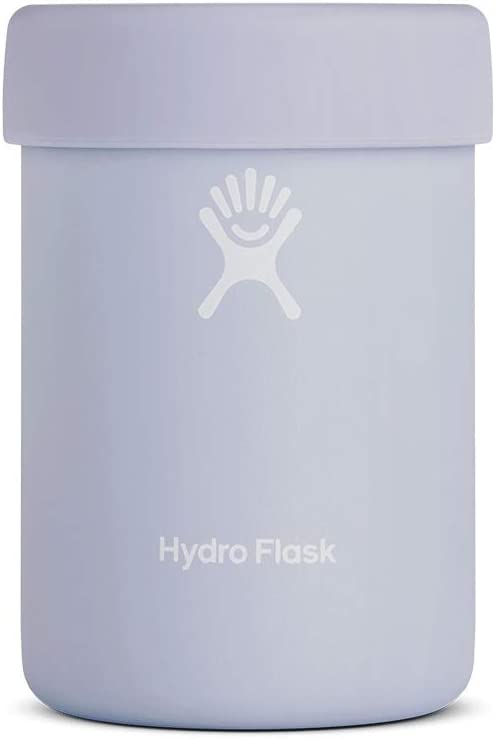 Hydro Flask Can Cooler Cup - Stainless Steel & Vacuum Insulated - Removable Rubber Boot - 12 oz, Fog