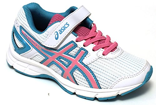 Asics Chaussures Running enfant – Gel Galaxy 8 PS – c522 N-0119 – White/Flamingo/Scuba blue-33