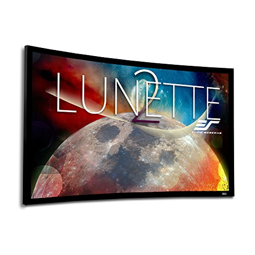Velvet Fixed Frame Frame - Elite Screens Lunette 2 Series, 120-inch Diagonal 16:9, Curved Home Theater Fixed Frame Projector Screen, CURVE120WH2