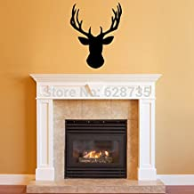 New Arrival Wall Stickers Deer Head ,Vinyl Wall Decal Deer Head Decor for your Lodge, cabin, Modern Home ,51x38cm P2046