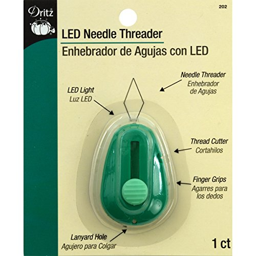 Best Buy! Dritz 202  LED Lighted Needle Threader, Green