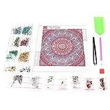 AUNMAS DIY Mandala Diamond Kit de Pintura 5D Full Drill Rhinestone Bordado de Punto de Cruz Montado En La Pared Decoración para El Hogar