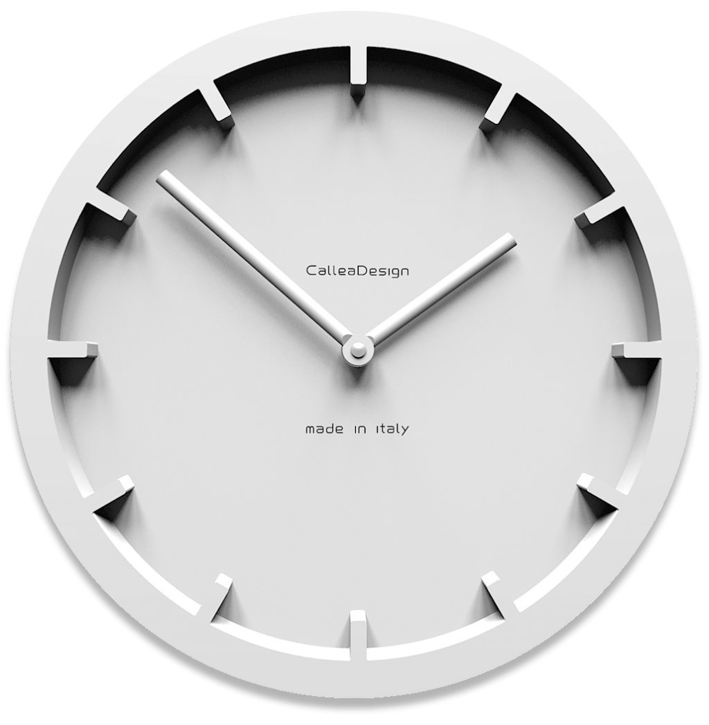 CalleaDesign 壁時計 Miny (白) B07DS93HBD 白 白