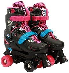 Monster High Adjustable Quad Roller Skates, 10-13