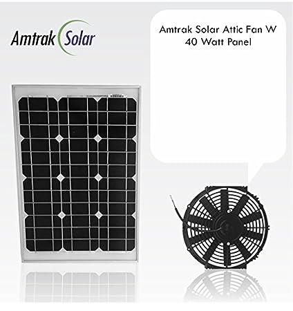 Amtrak Solaru0027s Powerful 40-Watt with 10 inch Solar Attic Fan Quietly Cools and Ventilates & Amtrak Solaru0027s Powerful 40-Watt with 10 inch Solar Attic Fan Quietly ...