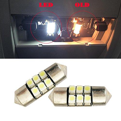 Led 27mm Festoon Light Bulbs 27mm 28mm 1.10 2835 6SMD DE3021 DE3022 3528 LED Xenon White Interior Lights Bulbs 12VDC Dome roof Door Step Light (27mm)