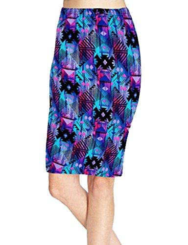 TEERFU Women Ladies Business Career Floral Casual Pencil A Skirts Knee Skirt Dress