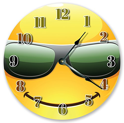 Cool Dude Emoji Kids Room Clocks 10.5